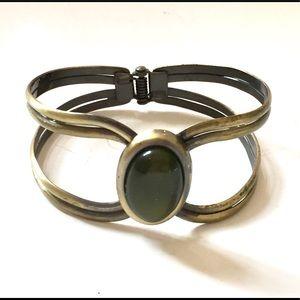 Green Gold Hinged Bracelet